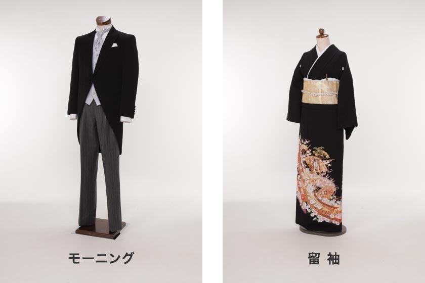 左:モーニング、右:留袖