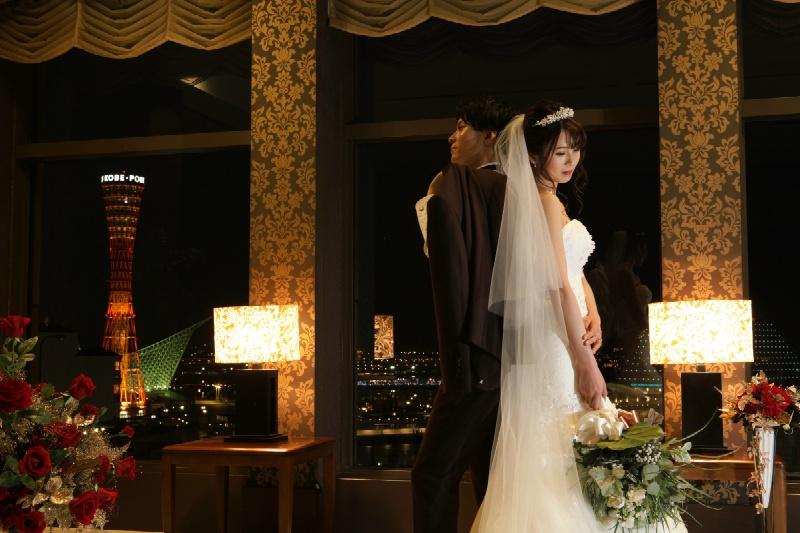 神戸の夜景が見える結婚式場